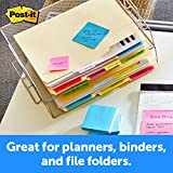 Post-it Tabs, 2 in, Solid, Assorted Bright