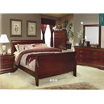 Amazon.com: Home Styles Lafayette King Sleigh Bed: Kitchen & Dining