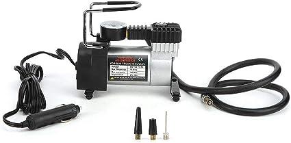 Duokon Inflador de la bomba de aire del coche, compresor de aire portátil de 12V Bomba de compresor de aire para neumáticos eléctricos eléctricos para SUV Sedans: Amazon.es: Coche y moto