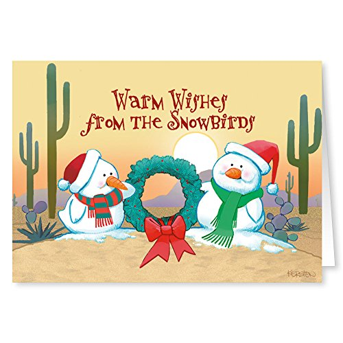 Price comparison product image Desert Snowbirds Christmas Card -18 Western Theme Cards & Envelopes