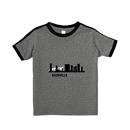 fan products of Nashville Shadow #1 Cotton Short Sleeve Crewneck Unisex Toddler T-Shirt Soccer Tee - Granite Heather, 2T