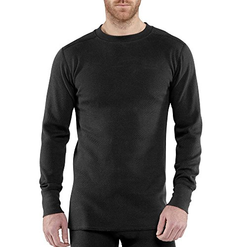 Carhartt Men's 100639 Force Heavyweight Cotton Thermal Crew Neck Top - 2X Tall - Black Carhartt Thermal
