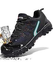 ASHION Stahlkappe Sicherheitsschuhe Herren, Industrie Handwerk Schuhe Atmungsaktiv Leichte Reflektierende Arbeitsschuhe