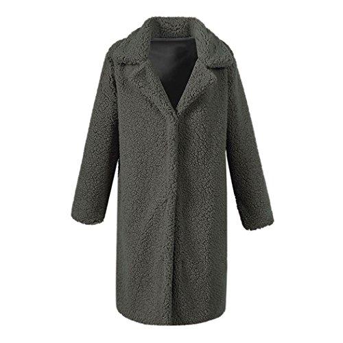 Long Manteau Vert Mode et Femme Chaud Taille Hiver Grande Veste Rembourre Fonc Chic la Fourrure 5ZO1dxW4