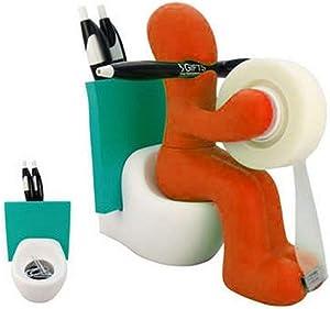 RICSB 'The Butt' Office Supply Station Desk Accessory Holder, Orange