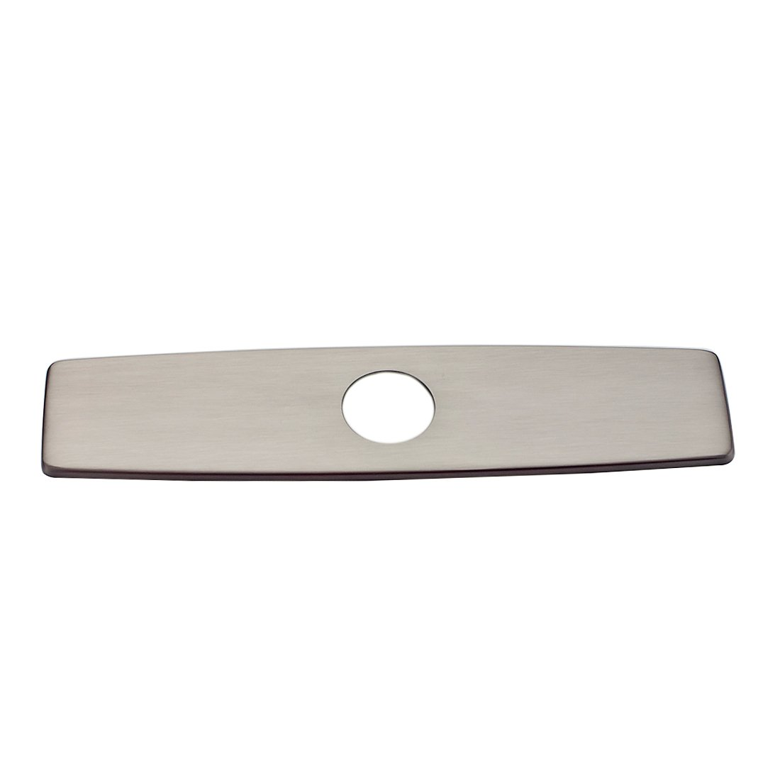 FLG Modern Brushed Nickel Stainless Steel Kitchen Bathroom Sink Hole Faucet 10'' Cover Deck Plate Escutcheon, Covering Unused Mounting Holes