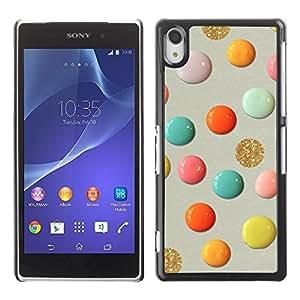 Be Good Phone Accessory // Dura Cáscara cubierta Protectora Caso Carcasa Funda de Protección para Sony Xperia Z2 D6502 D6503 D6543 L50t L50u // Glitter Gold Paint Paper Craft Art Po