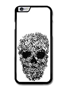 Skull with Flowers Pattern Black and White by Alexander Mcqueen case for iPhone 6 Plus