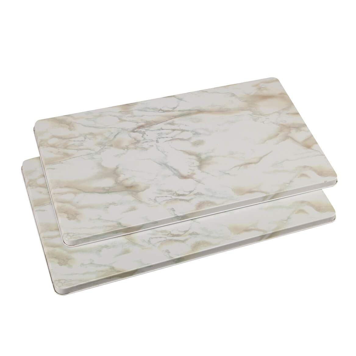 Miles Kimball 362361 Marble Burner Covers Set of 2 - White, 1x11.75x20.5,