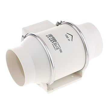 Baoblaze Profi 220V Abluftventilator Ventilator Gebläse Für Badezimmer  Küche   6 Zoll