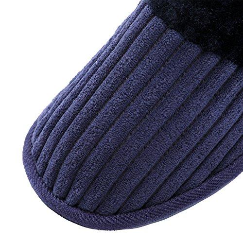 TRUEHAN Men House Indoor Slippers Winter Plush Soft Warm Lightweight Velvet Home Shoes (Tag Size 44 / UK9 10 D(M) US, Blue) by TRUEHAN (Image #4)