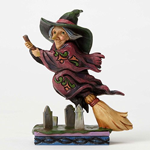 Jim Shore Heartwood Creek, Pint Sized Flying Witch