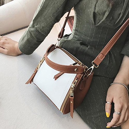 Shopping Tote Bags Women's Handbags Shoulder Handbag Women Clutches Bag Bag Bag Brown Bag Fashion Bags Women Shoulder Leather rnO0qxfr