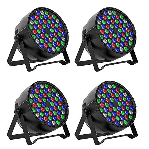 Used, Gohyo LED Stage Lights 4pcs 54X3W LEDs RGBW Sound Activated for sale  Delivered anywhere in USA