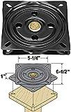 Woodtek 160559, Hardware, Furniture, Chair Swivels, 6-1/2'' Heavy Duty Chair Swivel Black
