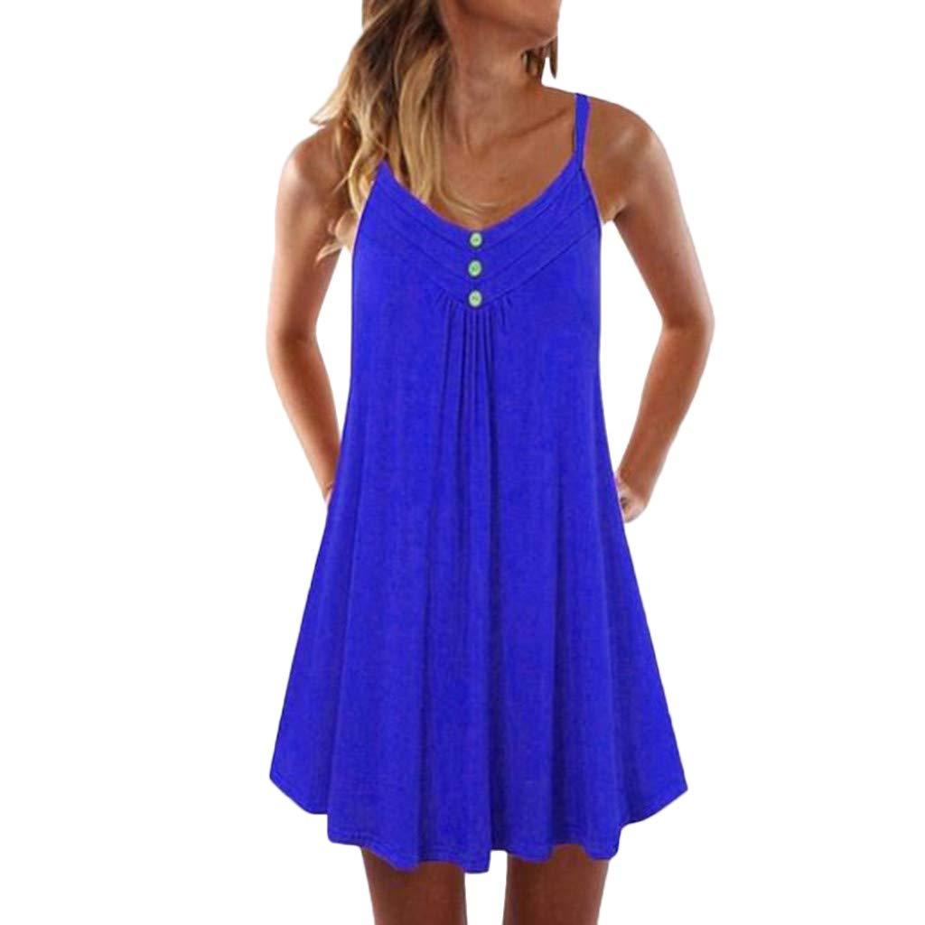 Caopixx Dress DRESS レディース Medium ブルー B07QK1WP14