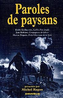 Paroles de paysans, Guillaumin, Emile