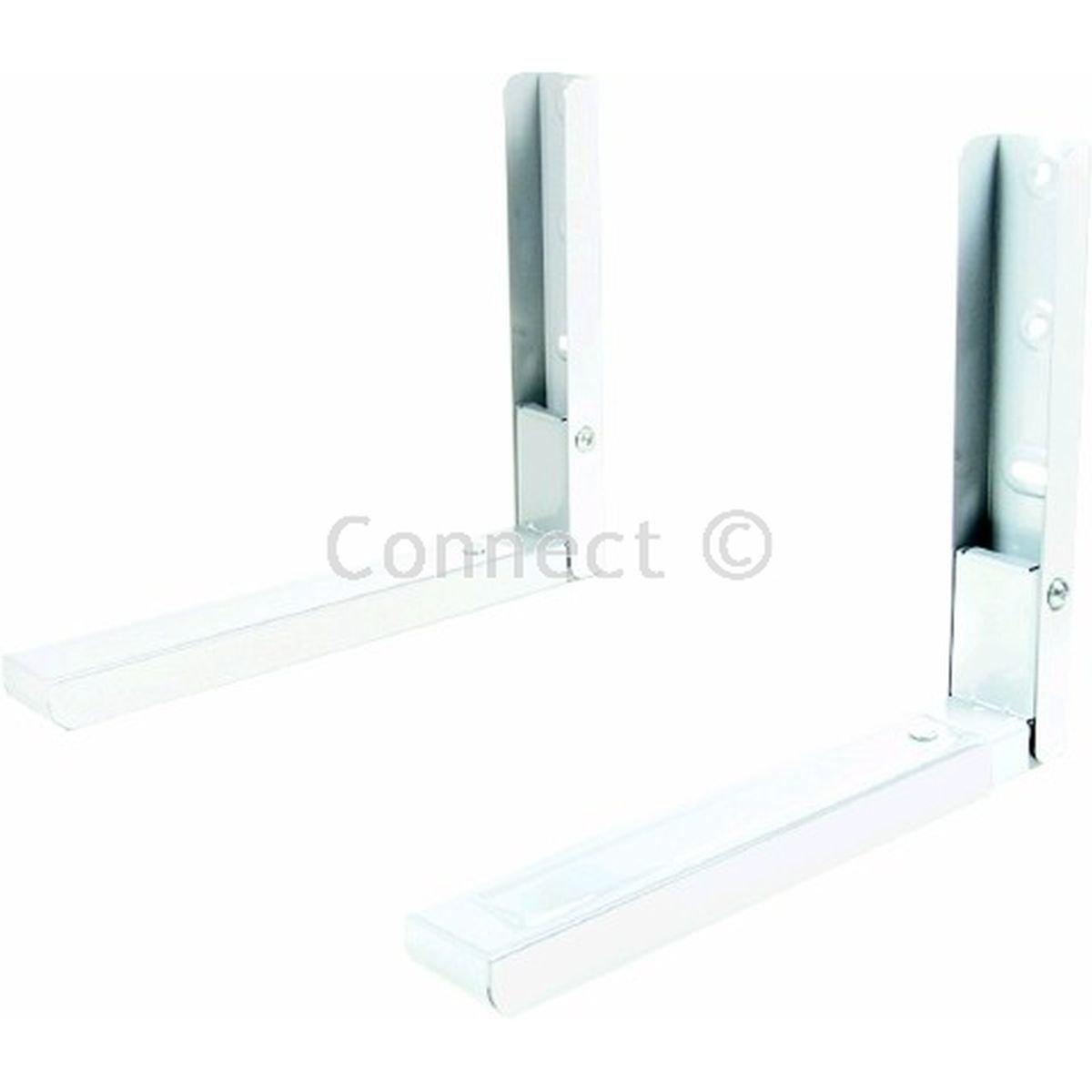 Amazon.com: Wellco Blanco horno microondas soportes de pared ...