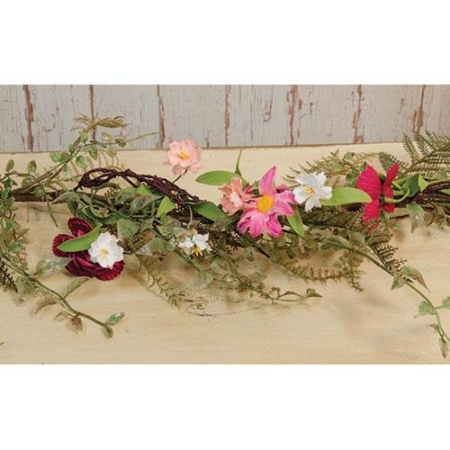 Heart of America Pink Gardenia Garland 4 Ft.