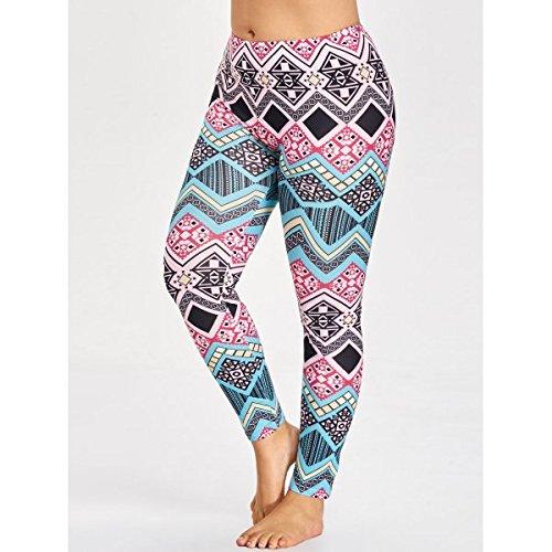 TrendsGal Ladies Plus Size Tribal Pattern Leggings 4XL