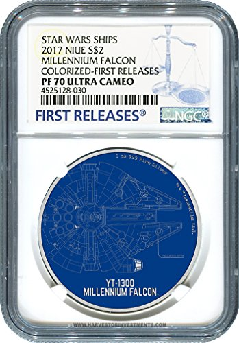 2017 NU Star Wars Ships Series: Millennium Falcon - 1 oz. Silver Coin - Certified NGC PF70 FIRST RELEASES $2 PF-70 NGC FIRST RELEASES