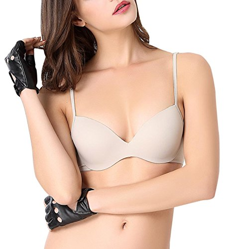 Demi Contour Bra for Women Underwire Invisible T Shirt Bra with Slim Straps 36D (Demi Contour Bra)