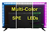SPE Bias Lighting for HDTV – Medium (78in / 2m) – Multi-Color RGB – USB LED Backlight Strip with Dimmer for Flat Screen TV LCD, Desktop Monitors, Kitchen Cabinets