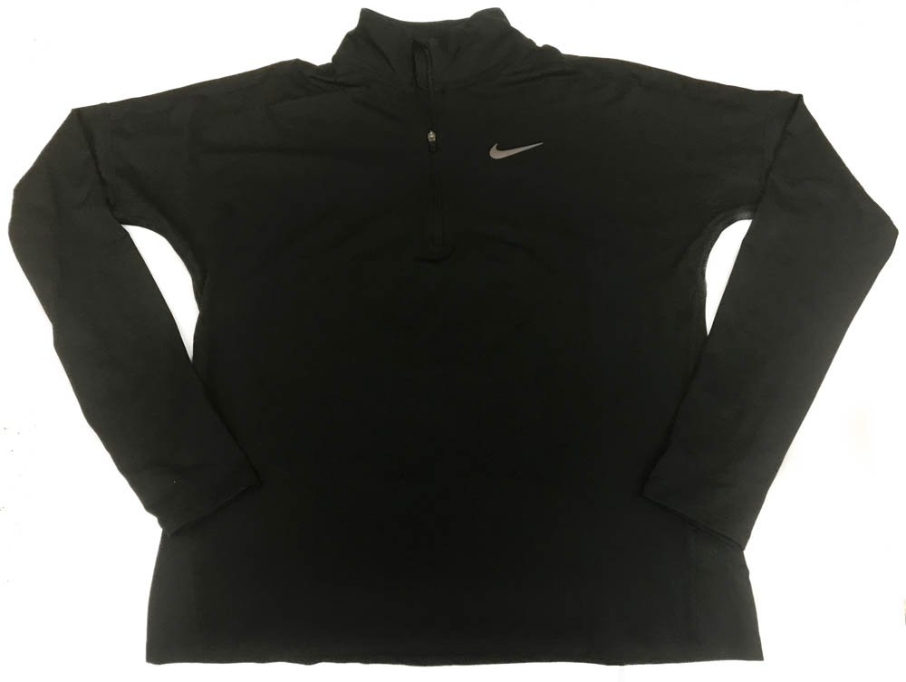 NIKE Womens Dri Fit Reflective Running Long Sleeve Shirt Large Black