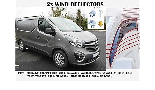 OPEL Opel Vivaro 2014-2018 Cubierta Del Espejo De Ala ABS Cromo 2 piezas