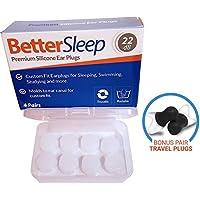 Better Sleep Moldable Silicone Earplugs for Sleep,...