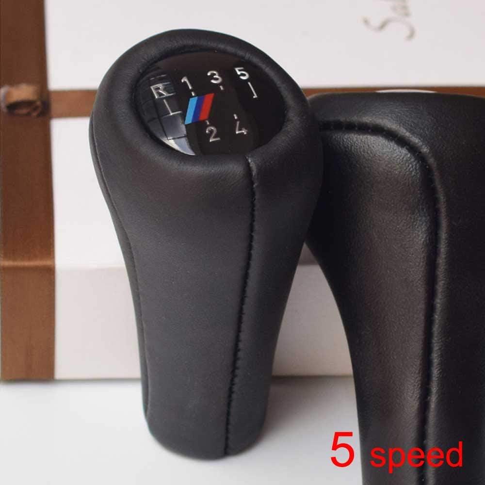 F/ür BMW 1 3 5 6 Serie E81 E82 E87 E88 E90 E91 E92 E93 E30 E36 E46 F30 E60 E61 E34 E39 TAYDMEO 5//6 Gang Auto Schaltknauf Mit M Logo