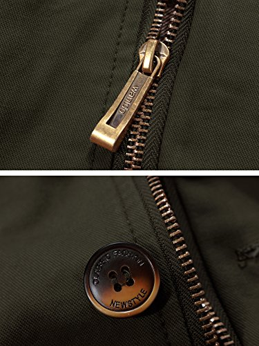 A Giacca Vento Verde Uomo Colletto Cotone Wantdo Militare Stand 7BZvWqwZ5