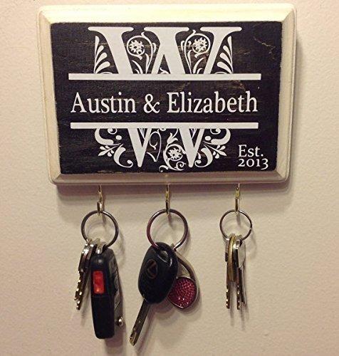 Personalized Wedding Gift- Monogram Key Holder Bridal shower Awesome for Engagement Gift Couples Gift Wedding gift idea Housewarming