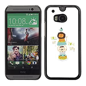 PC/Aluminum Funda Carcasa protectora para HTC One M8 Zoo Lion Funny Minimalist Bird / JUSTGO PHONE PROTECTOR