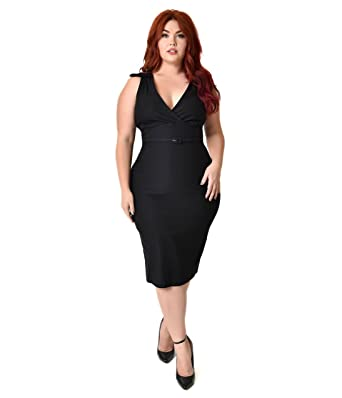 Unique Vintage Stop Staring Plus Size Black Collared Nyla