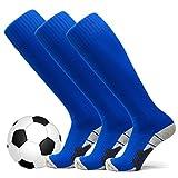 welltree Unisex Knee High Soccer & Football Cushion Socks(Children/Youth/Adult)