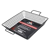 Bbq masters non-stick wire mesh grilling basket – grill topper barbecue pan – cook vegetables, seafood, meats