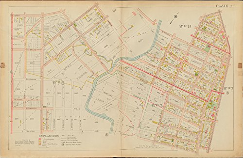 Historic 1906 Map | Union County, Double Page Plate No. 7 [Map bounded by Garden St. | Union County (N.J.)Atlases of the United States | Atlas of Union County, New - Gardens Map Jersey