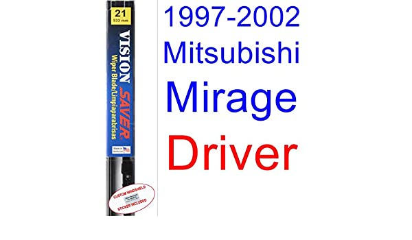 Amazon.com: 1997-2002 Mitsubishi Mirage Wiper Blade (Driver) (Saver Automotive Products-Vision Saver) (1998,1999,2000,2001): Automotive