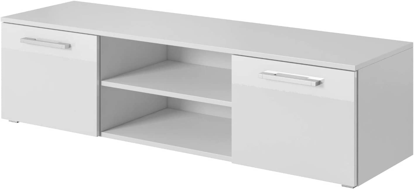 TV-Lowboard Fernsehschrank Fernsehtisch Utah 100 cm E-Com Schwarz