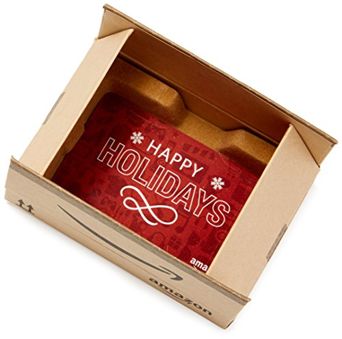 Amazon.com Gift Card in a Mini Amazon Shipping Box (Holiday Icons Card Design)]()