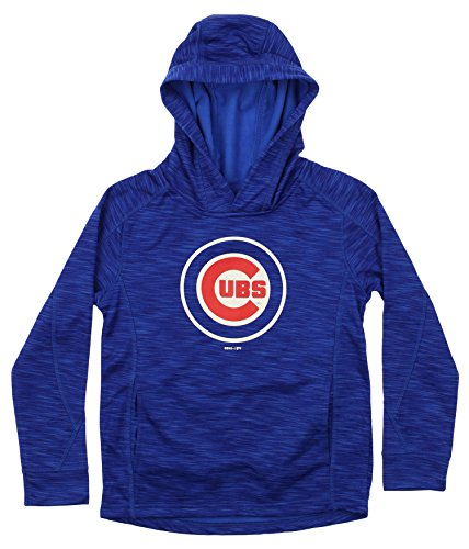 OuterStuff MLB Youth's Performance Fleece Primary Logo Hoodie, Chicago Cubs Medium (Chicago Cubs Pullover)
