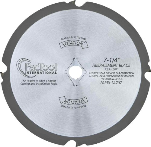 PacTool International SA707 7-1/4 Fiber Cement Saw Blade ()