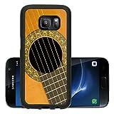 Liili Premium Samsung Galaxy S7 Aluminum Backplate Bumper Snap Case Classical acoustic guitar close up music background Photo 856095