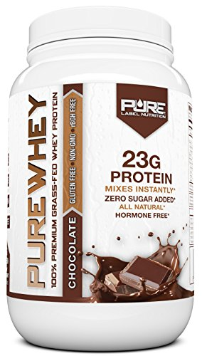 Grass Fed Whey Protein Powder | Chocolate 2lb Whey from Grass Fed California Cows | 100% Natural Whey w/ No Added Sugars | rBHG Free + GMO-Free + Gluten Free + Preservative Free | PURE Whey