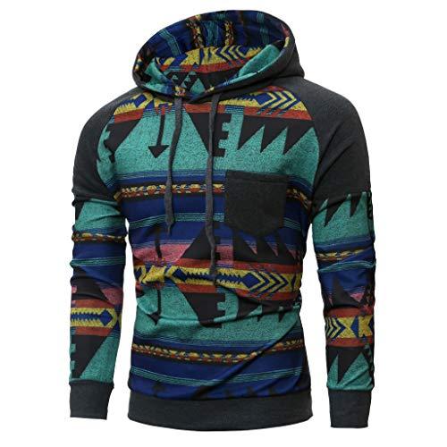 SFE-Mens-Shirts Hoodie for Men Spring Winter Long Sleeve Hooded Sweatshirt Printed Outwear Tops Blouse