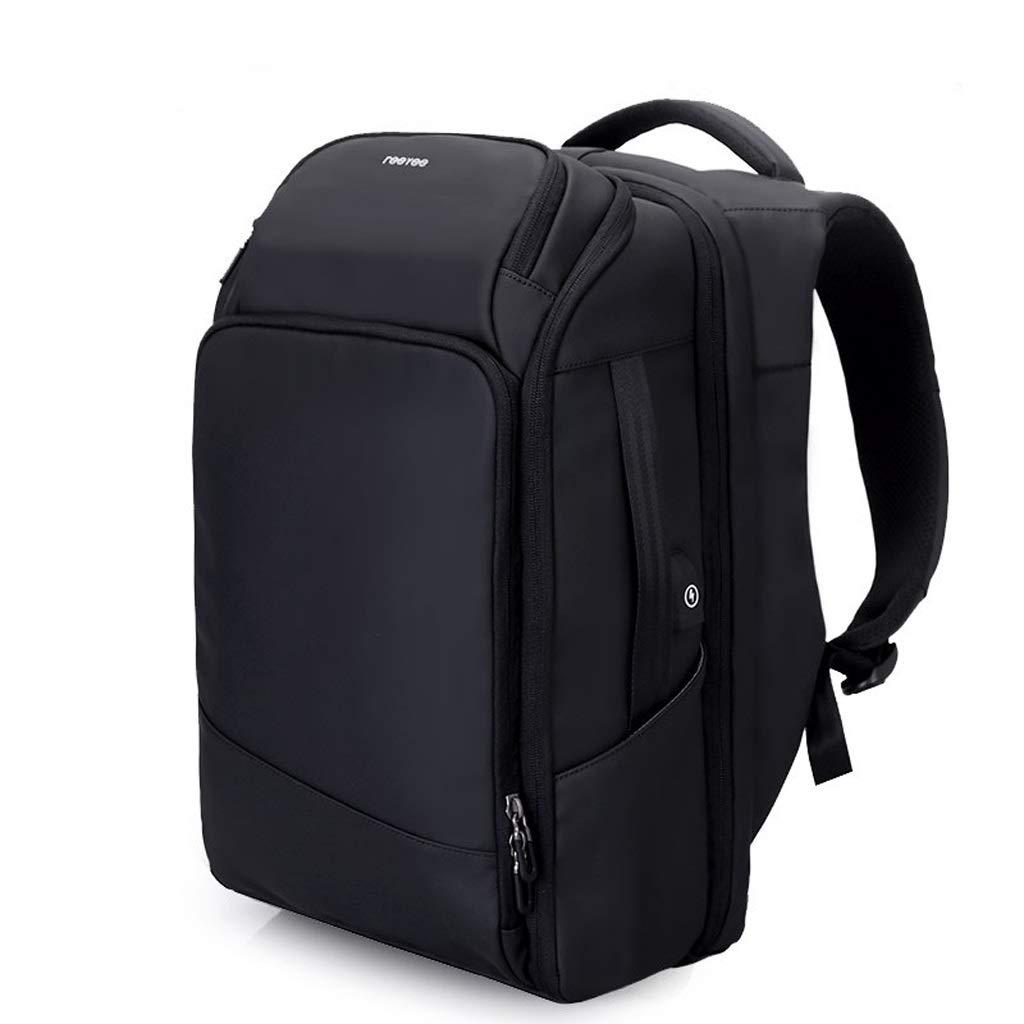 JIAHE115 Backpack HJCA190507216 Male Shoulder Bag Male Computer Bag Large Capacity Business Travel Multifunction Travel Bag Bag ( color   Black )