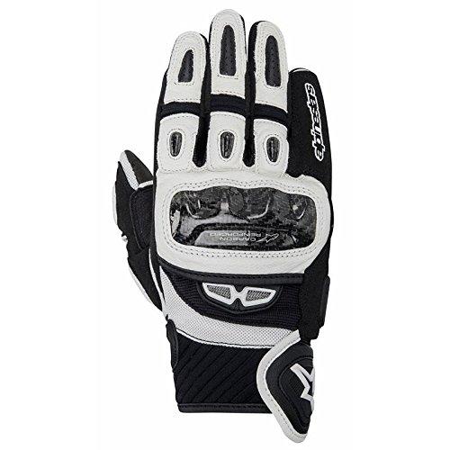 - Alpinestars GP Air Men's Street Motorcycle Gloves - Black/White/Medium