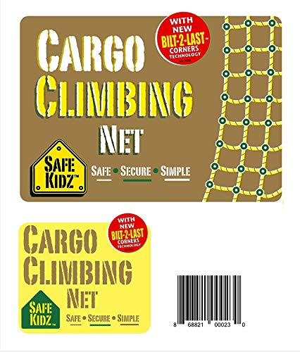 Safe-Kidz™ X- Large Cargo Climbing Net, 100% Polyester Rope Ladder, 108'' L x 70'' W + Drill Bit & Instructions by Safe-Kidz (Image #6)