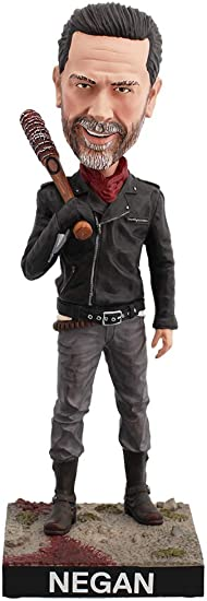 """ROYAL BOBBLES WALKING DEAD NEGAN WITH LUCILLE 8/"""" BOBBLE HEAD FIGURE NEW IN BOX"""